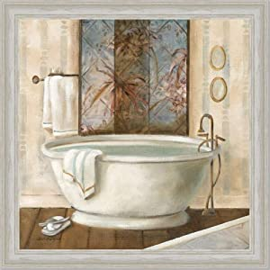 zen bathroom decor spa bath decor i art print framed