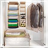 6x Kleidersack - Kleiderhülle - Kleiderbox - Aufbewahrungsbox - 6-teilig Aufbewahrung Set Hängeregal Kleiderschutz Kleiderschutzhülle NEU