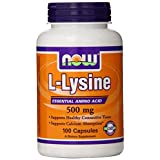 NOW Foods L-Lysine 500mg, 100 Capsules