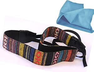 EzFoto Multi-Color Neck Strap for Canon, Nikon, Fuji, Olympus, Panasonic, Pentax, Sony cameras