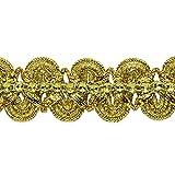 Expo International Eva Faux Rhinestone Metallic Braid Trim Embellishment, 19-Yard, Gold