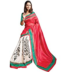 Rockchin Fashions Women's Silk Saree(RC-2015_Red)
