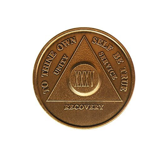 35 Year Bronze AA (Alcoholics Anonymous) - Sober / Sobriety / Birthday / Anniversary / Recovery / Medallion / Coin / Chip