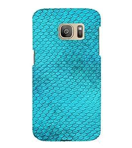 PrintVisa Blue Fish Design 3D Hard Polycarbonate Designer Back Case Cover for Samsung Galaxy S7 Edge