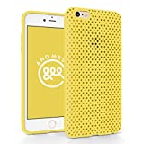 iPhone 6 Plus メッシュ ケース AndMesh Mesh Case for iPhone 6 Plus 日本製 エラストマー ソフトケース 割れない傷つかない優しい質感 Yellow 黄 イエロー | AMMSC610-YLW