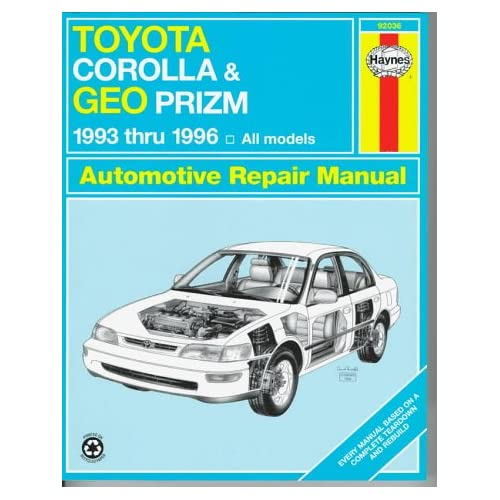 The best selection of Geo Prizm Maintenance & Repair Manuals parts and ...