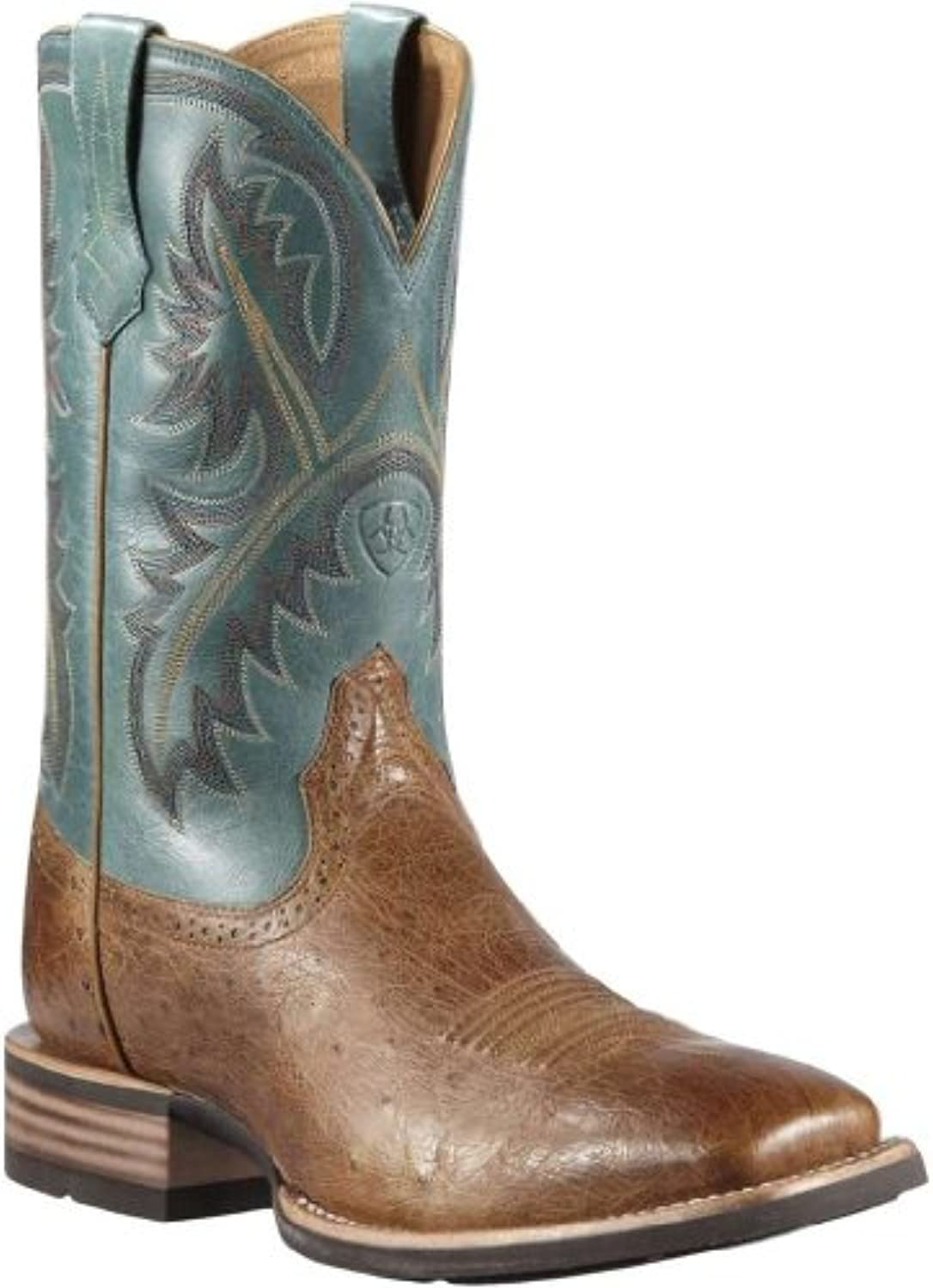4340f5a4b56 Ariat Men's Smooth Quill Ostrich Quickdraw Cowboy Boot Square Toe Tan 12  D(M) US | $223.99 - Buy today!