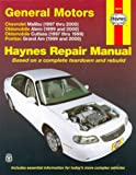 GM: Malibu, Alero, Cutlass & Grand Am, 9700 (Haynes Repair Manual)