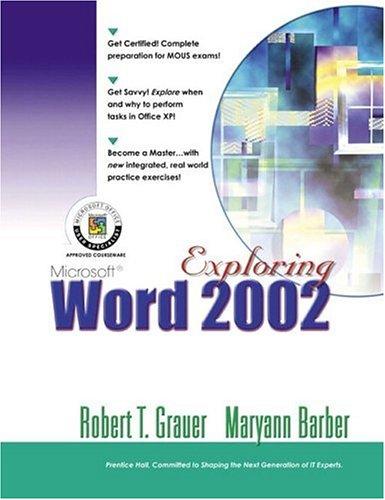 Exploring Microsoft Word 2002 Comprehensive