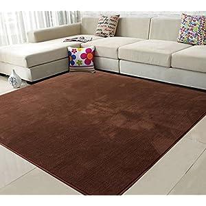 (OSJ)マイクロファイバー ラグ 洗えるカーペット 絨毯 モダンラグ 140X200cm ブラウン