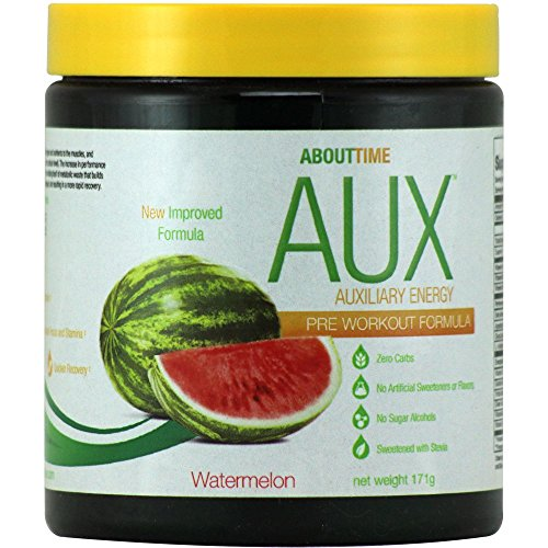 About Time - AUX Auxiliary Energy Pre Workout Formula Waterm