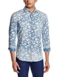 GAS Men's Casual Shirt (8056775006213_85379WY05_X-Large_WY05 - Blue)