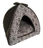 Best Pet Supplies Tent for Pet, Brown Swirl