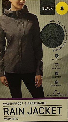 Paradox Women's Waterproof & Breathable Black Rain Jacket