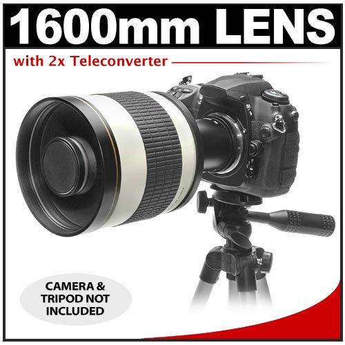 Rokinon 800Mm Multi-Coated Mirror Lens With 2X Teleconverter (=1600Mm) For Nikon D3100, D3200, D5100, D7000, D700, D800, D4 Digital Slr Cameras