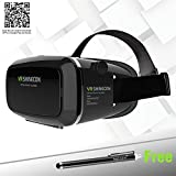 Tepoinn® 3D VR Glasses, 3D VR Headset Virtual Reality Box with Adjustable Lens and Strap for iPhone 5 5s 6 plus Samsung S3 Edge Note 4 and 3.5-5.5 inch Smartphone for 3D Movies and Games