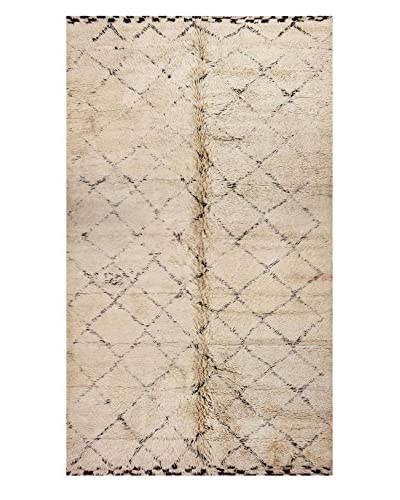 nuLOOM One-of-a-Kind Hand-Knotted Hopkins Berber Shag Rug, Natural, 6' 7 x 13' 5