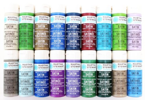 Martha Stewart Crafts Multi-Surface Satin Acrylic Craft Paint (2 Ounce), PROMO767D Best Selling Colors II (Martha Stewart Glass Paint compare prices)