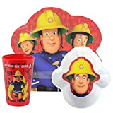 Look For Fireman Sam 3 Piece Dinnerware Set