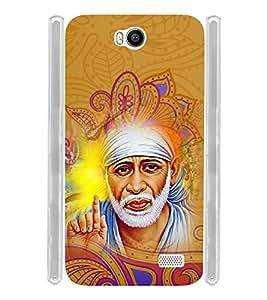 Lord Shirdi Sai Baba Sab Ka Malik Ek Soft Silicon Rubberized Back Case Cover for Intex Aqua 4.5E :: Intex Aqua 4.5 e