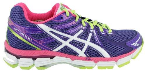 ASICS Women's GT-2000 Running Shoe,Grape/White/Hot Pink,6.5 B US