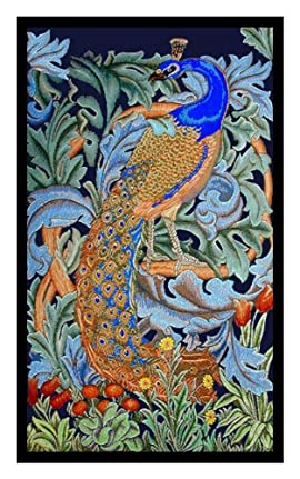 Peacock by Arts and Crafts Movement Founder William Morris Counted Cross Stitch Chart