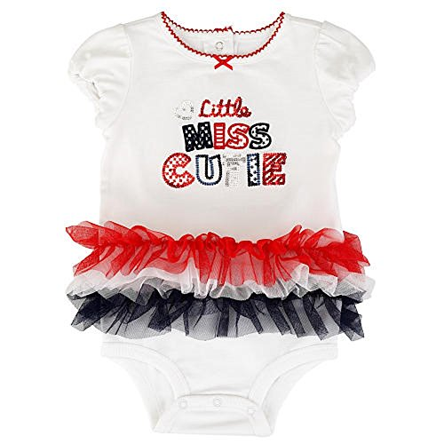 Baby Girls 4th of July Little Miss Cutie Tutu Dress Up Bodysuit Outfit