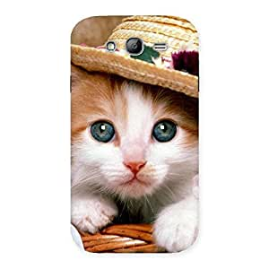 Stylish Cute Kitty Hat Multicolor Back Case Cover for Galaxy Grand Neo Plus