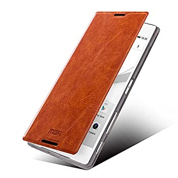 8. DAYJOY Elegant Ultra Slim Flip Flio Leather Protective Bumper Case Cover Shell Shield with stand function + 1PC tempered glass screen protector film for SONY XPERIA Z5
