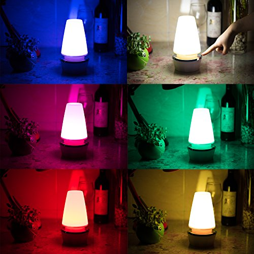 Nursery Lamp Elec3 Night Lamp Bedroom Atmosphere Lamp, Bedside Table Lamp  360 Degrees Touch Sensor 6 Color Changing RGB, Atmosphere Light, USB  Charging ...