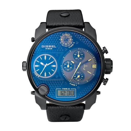 Diesel Men's S.B.A Watch DZ7127 With Black Leather Strap