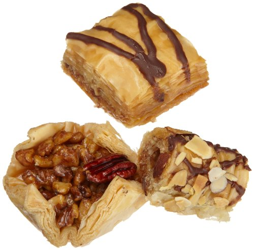 Sinbad Sweets Baklava Gift Assortment (7 Piece), 10-Ounce Gold Gift Boxes (Pack of 3)