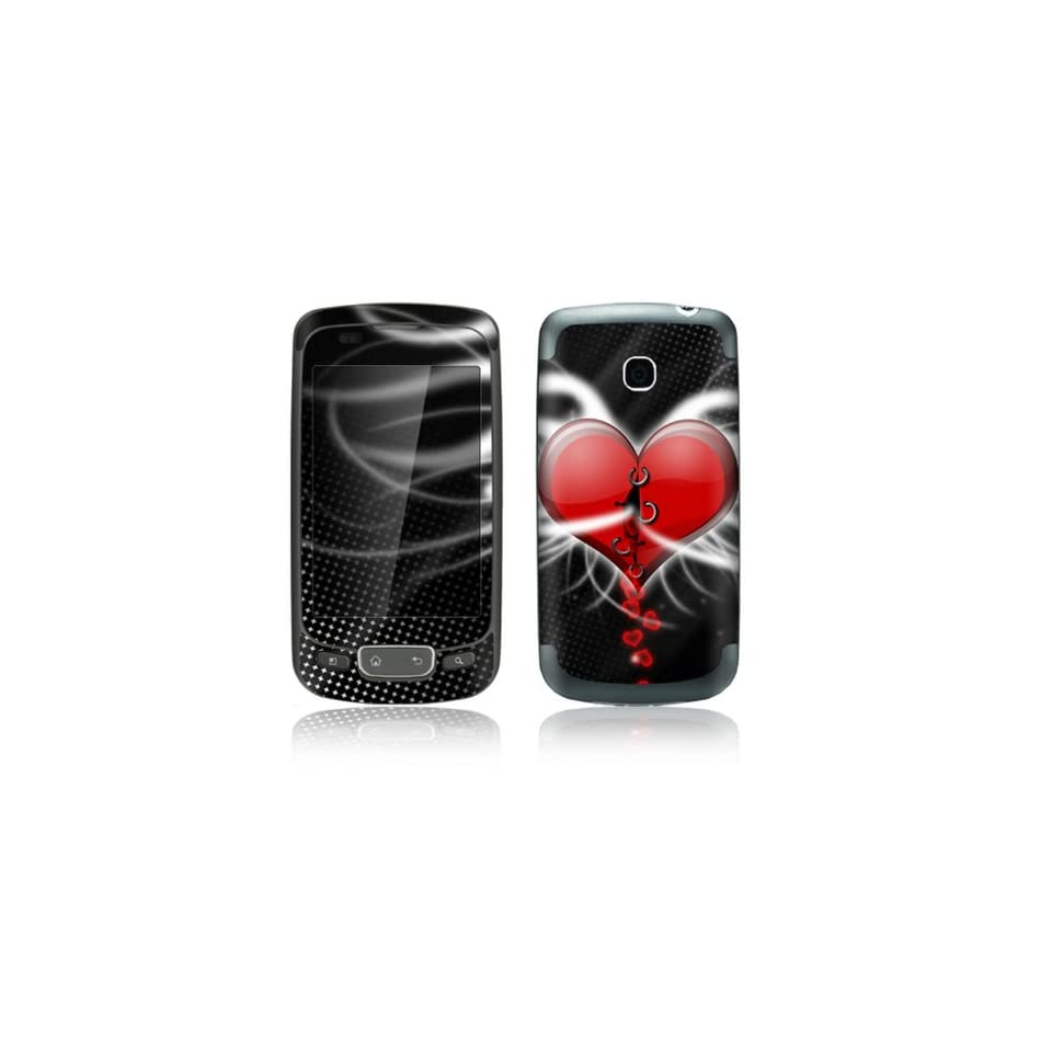 Devil Heart Design Decorative Skin Cover Decal Sticker for LG Optimus One P500 Cell Phone