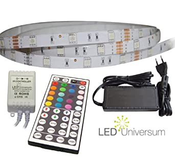 3 meter set rgb led strip streifen leiste 3m 30 led m. Black Bedroom Furniture Sets. Home Design Ideas