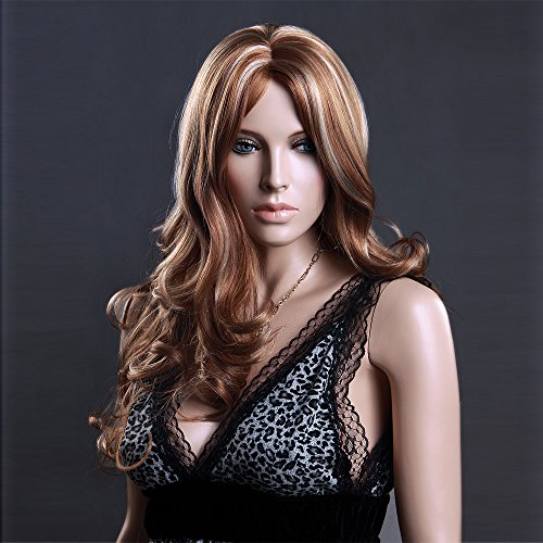 (WG-ZL516-27H613) Female Long Hair Wig. Mix Color.