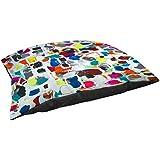 Thumbprintz Fleece Top Large Breed Pet Bed, Celebration, Multi Colored