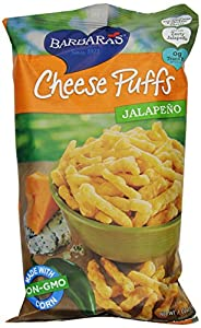 Barbara's Bakery Jalapeno Cheese Puffs, 7-Ounce Bags (Pack of 12)