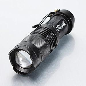 CREE Q5 3W Led 350 Lumens mini Flashlight Zoomable Torch AA