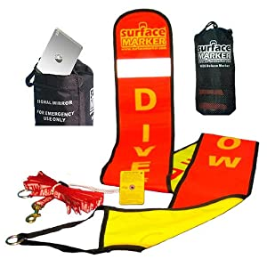 Surface Marker Deluxe Webbing Deployment System, Orange  Yellow Combo by Surface Marker