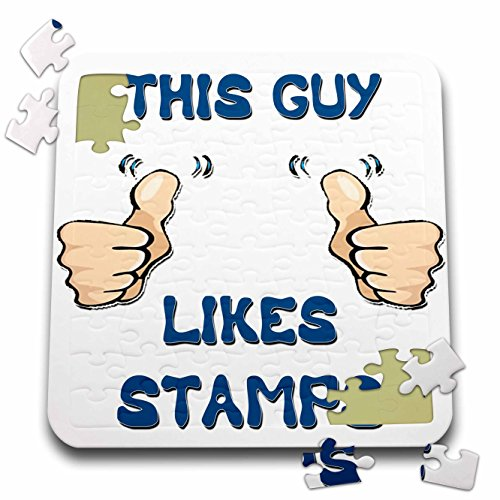 Blonde Designs This Guy Likes With Thumbs - This Guy Likes Stamps - 10x10 Inch Puzzle (pzl_150476_2)