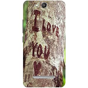 Casotec I Love You Design Hard Back Case Cover for Micromax Canvas Juice 3 Q392