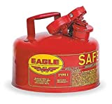 Eagle UI-10-S Red Galvanized Steel Type I Gas Safety Can, 1 gallon Capacity, 8