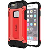 Cubix Impact Hybrid Armor Defender Case For Apple IPhone 6 (Red)