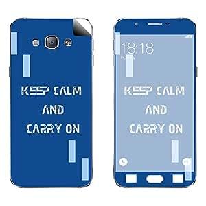 Skintice Designer Vinyl Skin Sticker for Samsung Galaxy A8, Design - keep calm