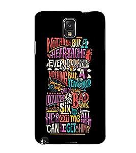 Fuson Premium Printed Hard Plastic Back Case Cover for Samsung Galaxy Note 3