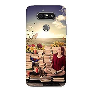 Wonderful Cute Book Girl Back Case Cover for LG G5