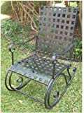 CONTEMPO IRON PATIO or PORCH ROCKER in a BLACK FINISH - PATIO FURNITURE