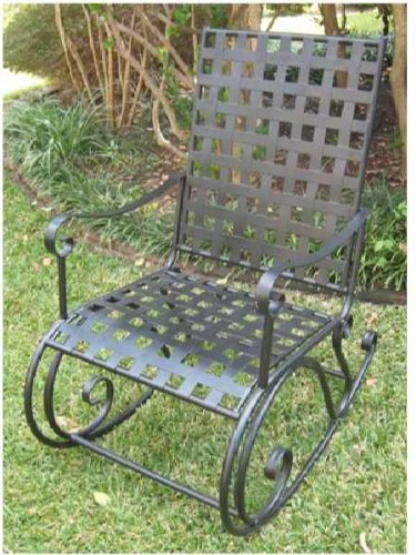 Best Deal With Contempo Iron Patio Or Porch Rocker In A