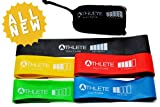 Resistance Loop Bands Set for Exercise with 5 Levels of Strength - The Ultimate Workout for Men and Women of All Ages - Perfect for Crossfit Training, P90x, Insanity, Yoga, Pilates, Asylum, Beachbody, Physical Therapy, and Other Workouts - Strengthen Your Legs, Hips, Shoulders, Chest, Arms, Ankles, Core and Shoulders - 100% Natural Latex Built for Performance, Comfort and Durability - The ONLY Set of Exercise Bands with a 100% Satisfaction Lifetime Guarantee