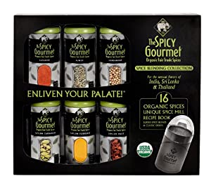 The Spicy Gourmet Complete Organic Spice Box Set by The Spicy Gourmet